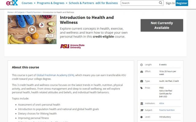 MOOC health and wellness
